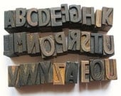 Antique type blocks: Pick your own type blocks, print blocks, print letters, antique print block set, choose your initial, initials, wedding