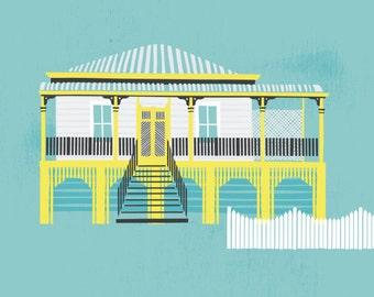 Queenslander // Australian Digital Illustration Print