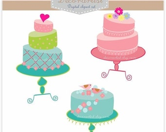 ON SALE cakes clipart, sale clipart, instant download Digital clipart, cake clipart