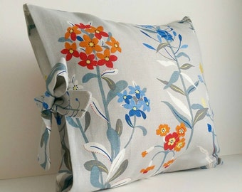 Handmade Ophelia Linen fabric Tied Pillow Cover
