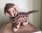 Vintage tabby cat stuffed animal