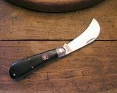 Hand Engraved Robert Klaas Hawkbill Pruning, Grafting Personalized Pocket Knife Master Gardener garden tool, gardening, Valentines Day Gift