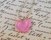 Ruffled Heart Necklace