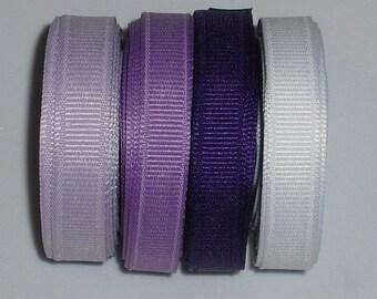 20 yards Purple 3/8 inch Ribbon Mix