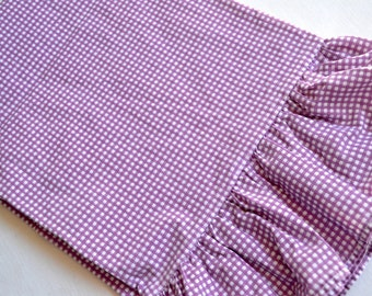 Ralph Lauren Pillowcase - Purple and White Petite Gingham - Standard Size