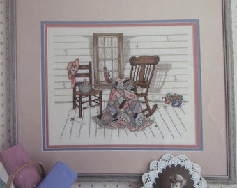 Aunt Verdi's Porch/Counted Cross Stitch/Paula Vaughan/Leisure Arts Leaflet 448/Colored Graph/1986