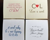 4 Piece Truffle Box - Custom Printed Favor Box - Cream Matte Paper