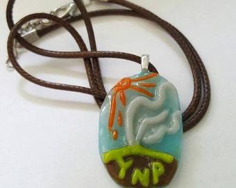 Glass Yellowstone Pendant Necklace