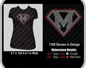 Super M Rhinestone T Shirt