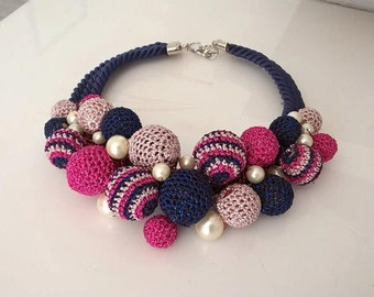 Bubbles - one of a kind statement necklace