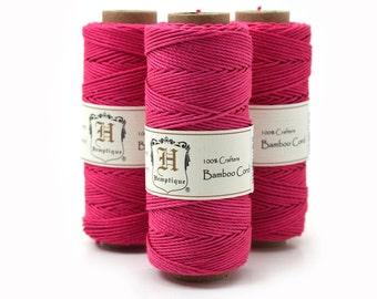 Pink Macrame Cord, Bamboo Cord, Neon Cord, Bamboo Twine, Pink Jewelry Cord  -T61