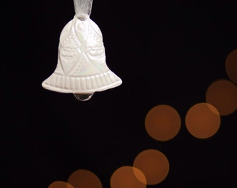 Lacey Bell Ornaments of impressed clay for weddings or Christmas