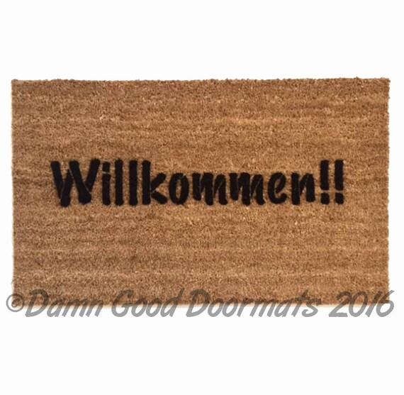 German door mat Willkommen-  welcome in