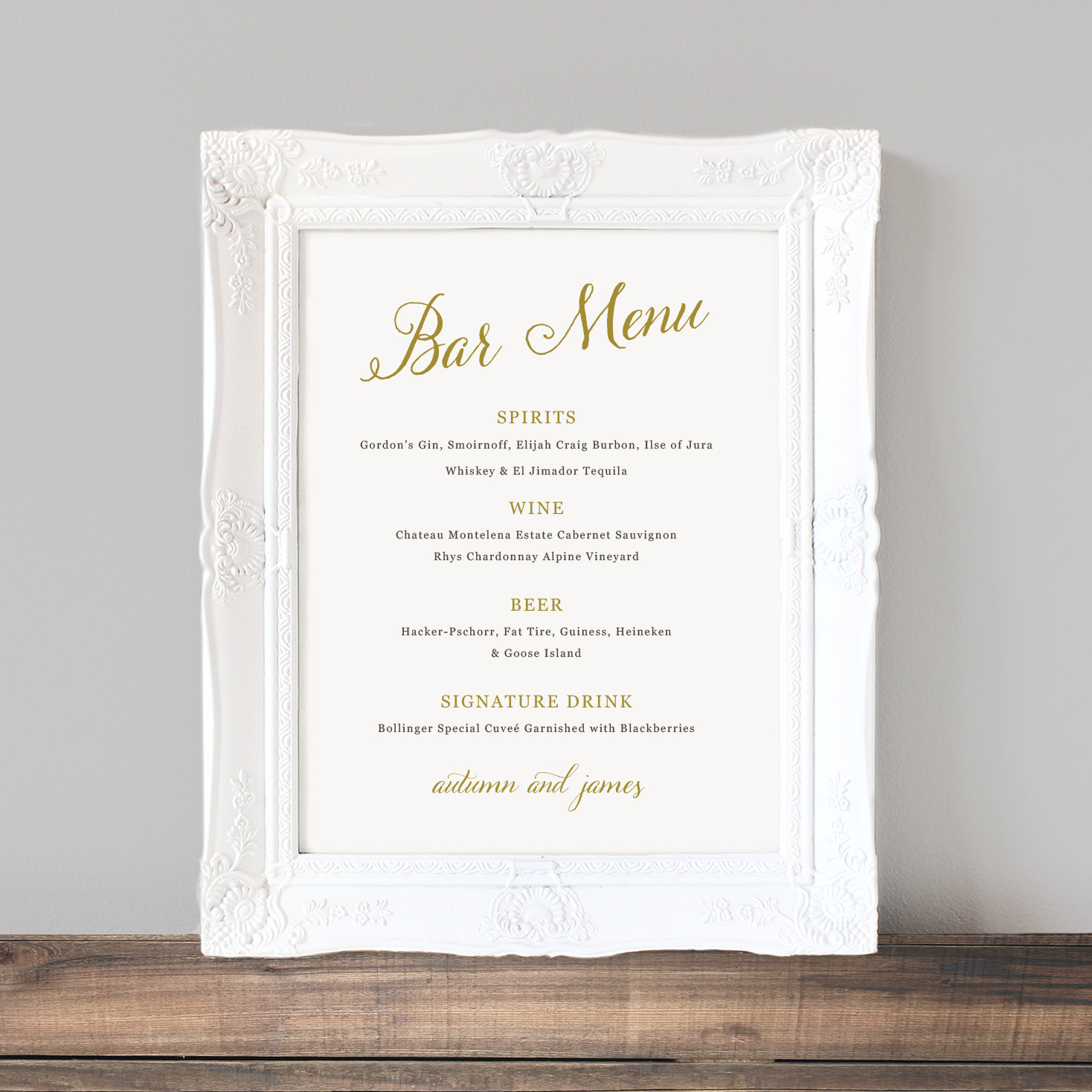 wedding drink menu template free - printable wedding bar menu template wedding bar sign