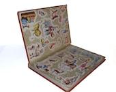 Hollow Book Safe Child Craft Animal Friends and Adventures Cloth Bound vintage Secret Compartment Keepsake Box Hidden Security Box