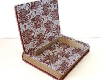 Hollow Book Safe The Book of Scotland Cloth Bound vintage Secret Compartment Keepsake Box Hidden Security Box