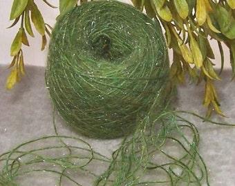 Yarn HEATHERED FERN Lace Weight Green Shimmer Spectacular Color Bin 15