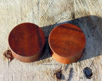 22mm Black Walnut ear plugs, 7/8ths inch hand turned wooden gauges, organic wood plugs
