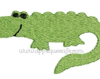 482 Mini Alligator Machine Embroidery Design
