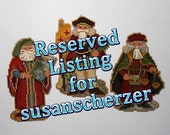 Reserved Listing for susanscherzer- Three Renaissance Santa Ornaments