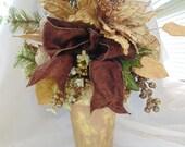 Golden Floral Centerpiece