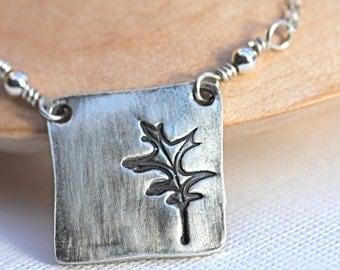 Oak Leaf Necklace in sterling