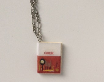 Handmade Mini Cook Book Necklace