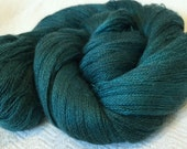 hand dyed lace weight yarn cashmere blend yarn Turquoise Teal Blue Green Mermaid's Curse cobweb lace 1312 yards baby alpaca silk cashmere