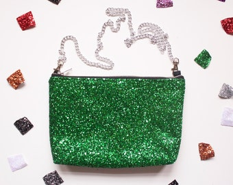 The Parrot Party Clutch - glitter sparkle purse, going out bag