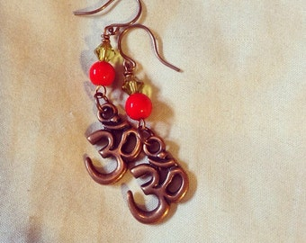 Copper Ohm earrings