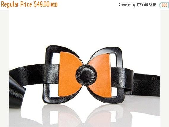 leather bow belt - black bow belt - dress bow belt - women belt - waist belt - hip belt - wide belt - fashion belt