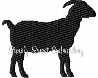 Goat Mini Machine Embroidery Design