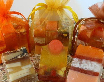 Soap - Fall Trio Soaps - Autumn Soaps -  Thanksgiving Soaps - Glycerin Soaps - Fall - Autumn -  Party Favors -Hostess Gift