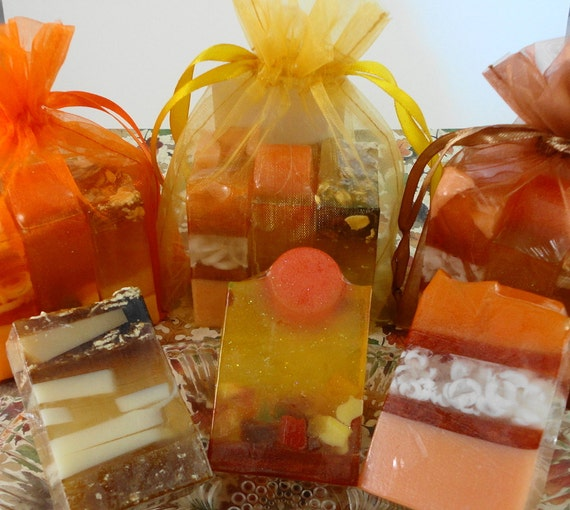 Soap fall trio soaps autumn soaps thanksgiving soaps for Fall soap scents
