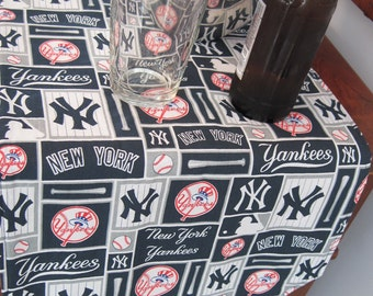 Yankees Table Runner 54 Inch Reversible Blue Stars Table Runner MLB Table Runner New York Yankees Table Runner NY Yankees Gift Yankee fan
