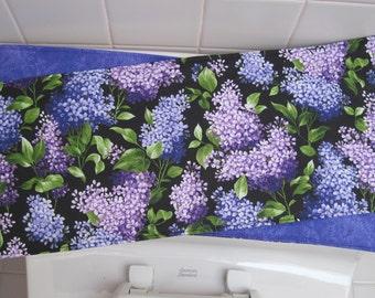 Purple Floral Toilet Tank Runner Tulip Toilet Tank Topper Lilac Toilet Tank  Runner Purple And Pink
