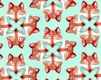 SALE - Michael Miller - Foxy Fellas Collection - Out Foxed in Mist