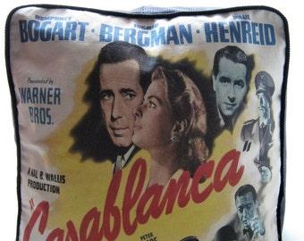 Casablanca Printed Fabric Pouffe Footrest Floor Cushion Pouff Black Corduroy