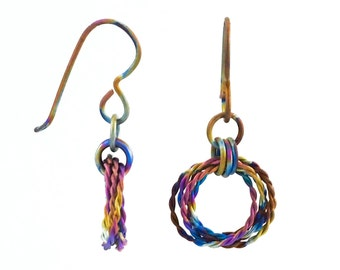 Breezy Titanium Earrings - Hypo Allergenic and Light Weight