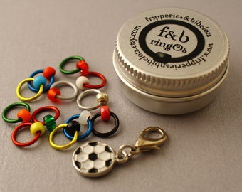 ringOs Limited Edition Football Fever! ~ Snag Free Ring Stitch Markers for Knitting