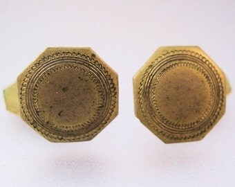 15% OFF SALE Antique Gilded Edwardian Cuff Links Vintage Jewelry Jewellery