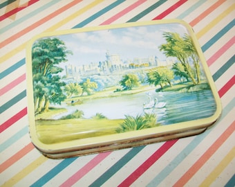 SALE - Vintage Candy Tin, Clarnico, London, 1960s, Windsor Castle