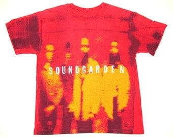 Soundgarden Vintage 90's Superunknown Allover Print Concert T Shirt Grunge