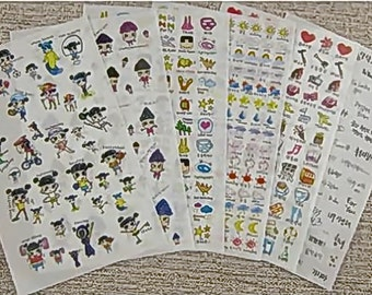 Black-Haired Girl Stickers (STK-136)
