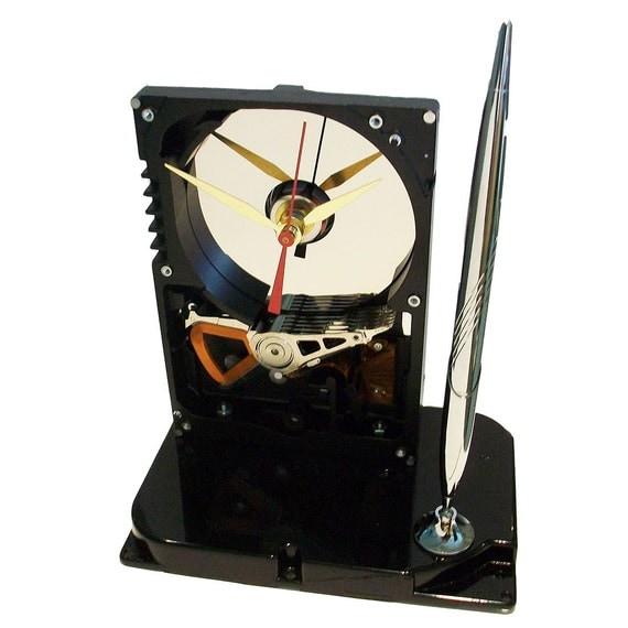Pen Holder Hard Drive Clock Cool Office Gift Teacher Gift