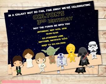 Space Wars Birthday Party Invitation