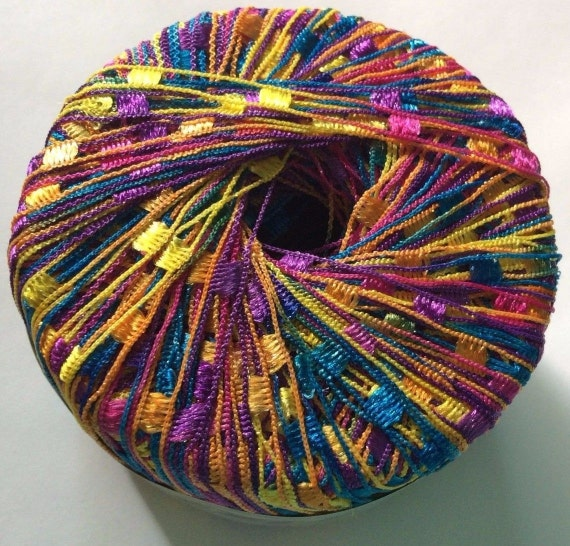 Items Similar To KFI Dazzle Ladder Yarn #116 Purple Pink