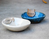 Personalized Cat Bowl, Named Pet Bowl, Pet Dish, Personalized, Bowl With Name, Handmade Pet Bowl, Ceramic Pottery