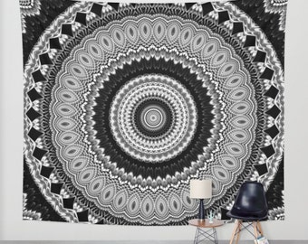 Mandala tapestry etsy for Decoration murale mandala