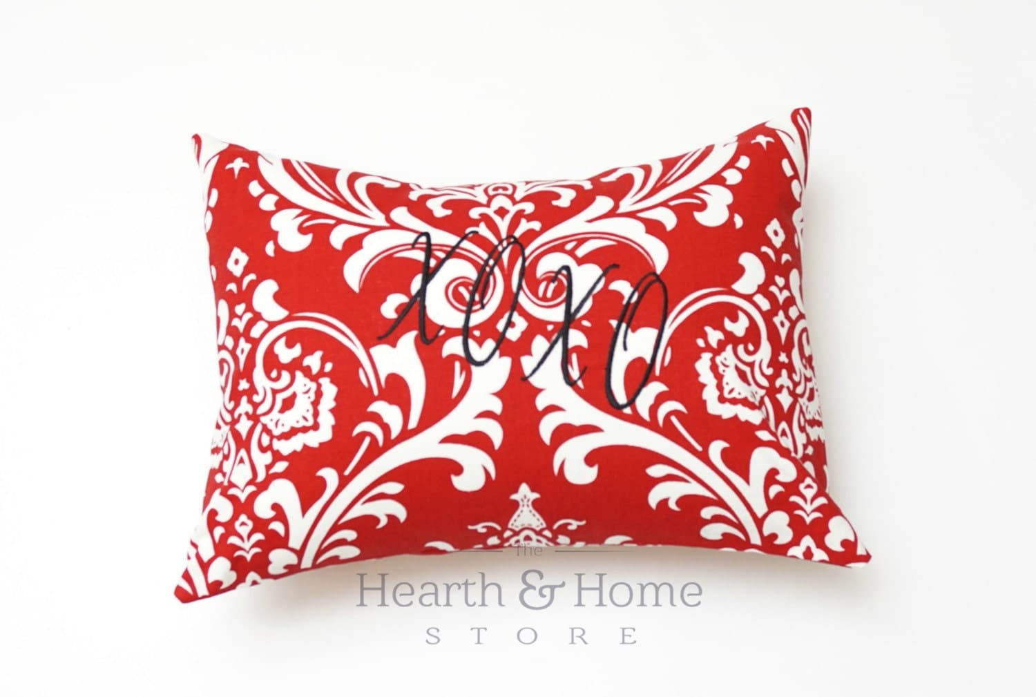 Decorative Valentine Pillows : Valentine Decorative Throw Pillow Cover with XOXO Monogram 12